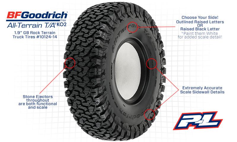 Bf Goodrich Truck Tires >> Pr10124 14 Proline Bfgoodrich All Terrain Ko2 1 9 G8 Rock